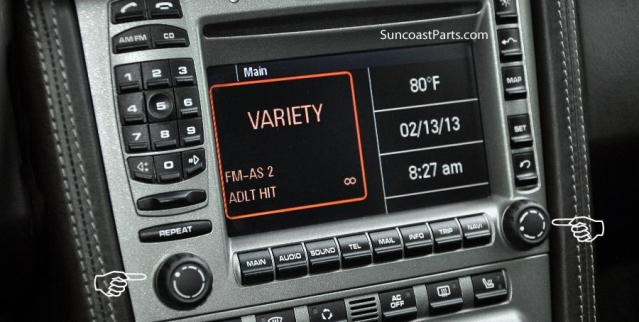 suncoast porsche parts accessories radio knob set pcm 987 997 rh suncoastparts com Porsche PCM 3.0 Porsche PCM Track