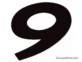 Suncoast Porsche Parts & Accessories Race Number Decal - 9