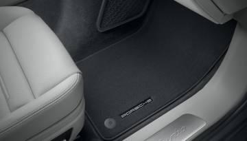 Premium 2009- Grey with Red Trim Connected Essentials CEM650 Car Mat Set for Panamera