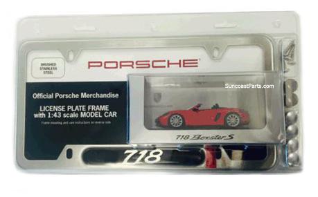 Suncoast Porsche Parts & Accessories License Plate Frame - 718 Gift ...