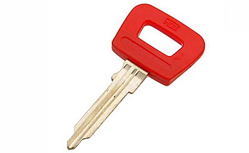 Genuine For Porsche 91453190311 Key Blank Red