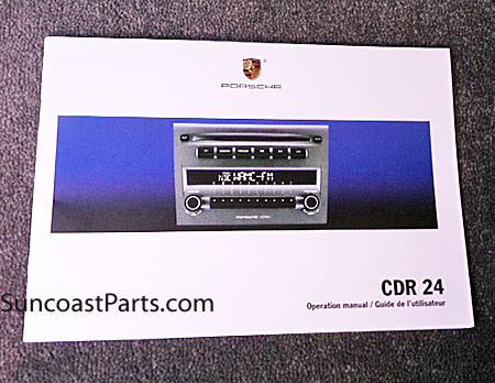 porsche owner owners radio manual book porsche cayman boxster carrera 911 suncoast porsche parts & accessories standard radio cdr24 cdr-24 wiring diagram at mifinder.co