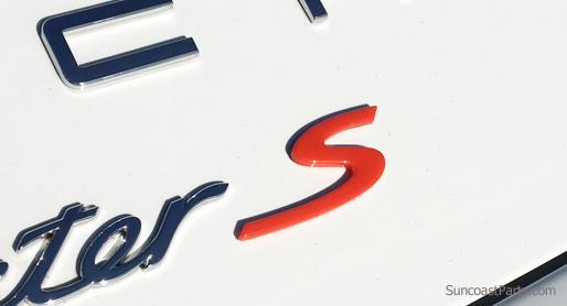 Suncoast Porsche Parts Accessories Emblem S In Red