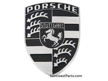 Suncoast Porsche Parts Accessories Emblem Silver Crest